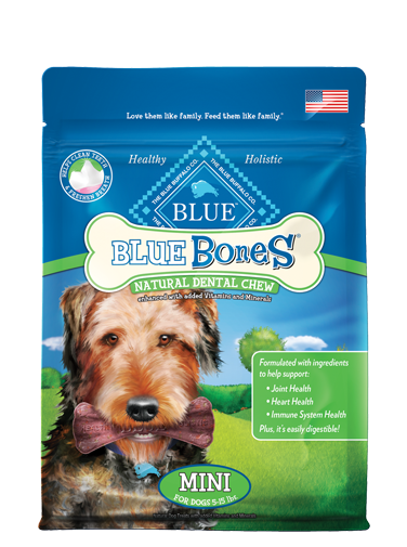 Blue Buffalo Dental Bones All Natural Mini Dog Treats 12z