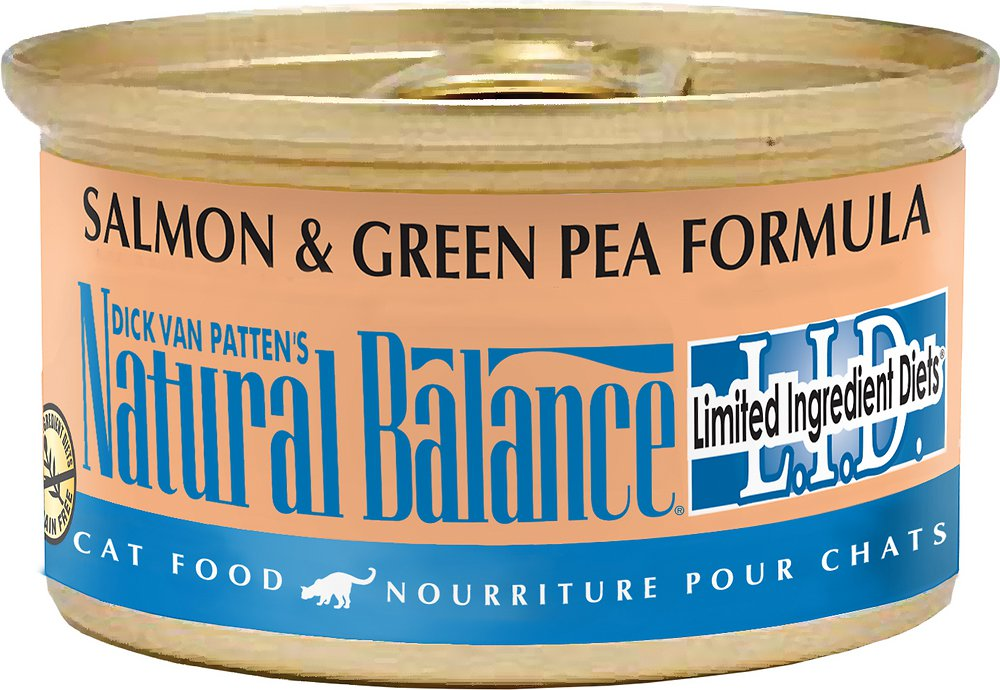 Natural Balance Grain-Free L.I.D. Limited Ingredient Diets Salmon & Green Pea Formula Canned Cat Food 3z, 24
