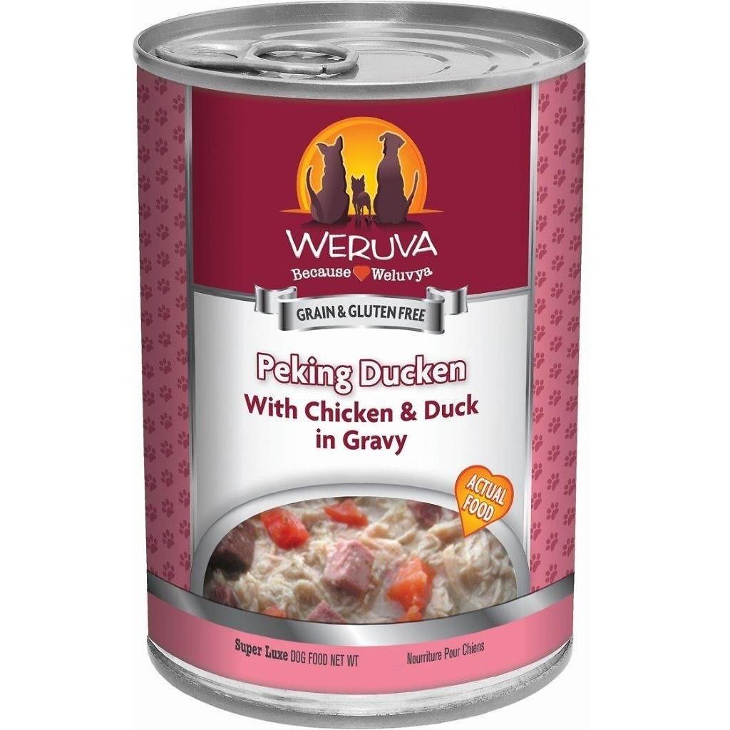 Weruva Peking Ducken with Chicken & Duck in Gravy Canned Dog Food 14.4z, 12