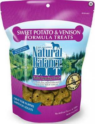 Natural Balance Limited Ingredient Treats Venison And Sweet Potato Biscuits 8z