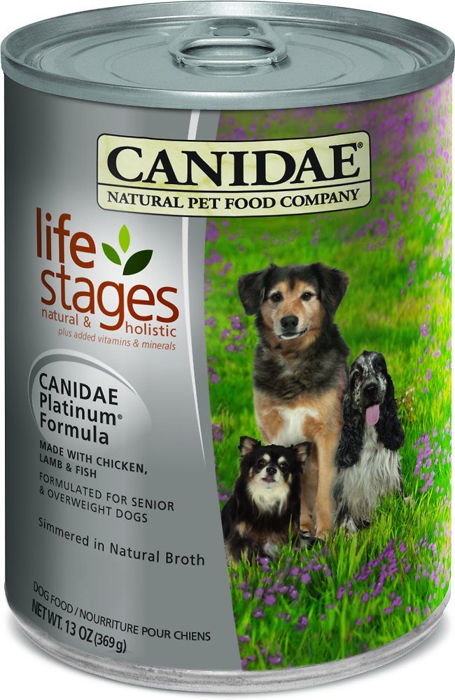 Canidae Life Stages Platinum Formula Canned Dog Food 13z, 12