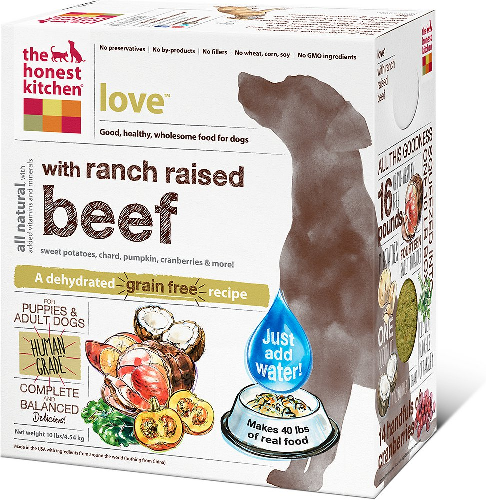 The Honest Kitchen Love Dehydrated Dog Food 1z sample
