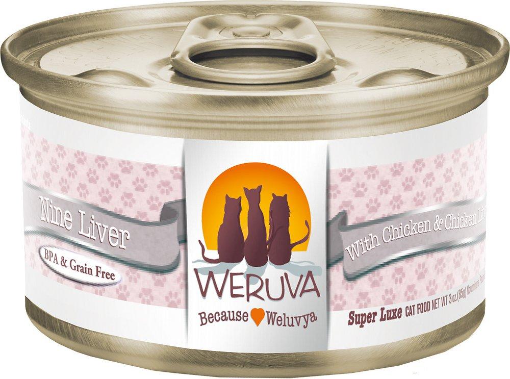 Weruva Grain-Free Nine Liver with Chicken & Chicken Liver in Gravy Canned Cat Food 3z, 24