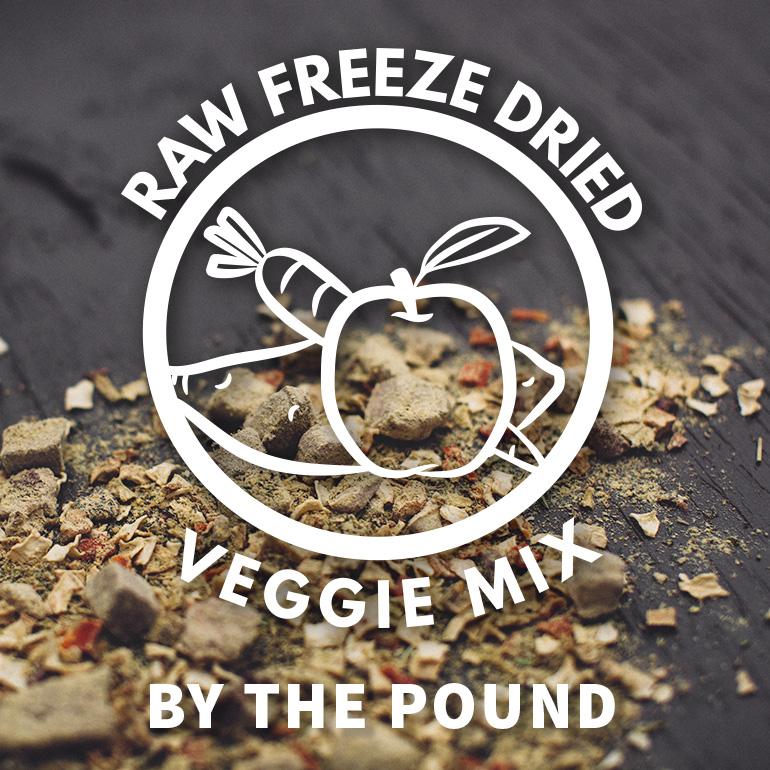 DOG Naked Raw Veggie Freeze Dried Food By the Pound Grain-Free
