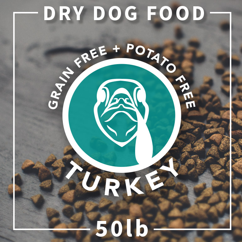 Naked Turkey and Pea Grain-Free Potato-Free Dry Dog Food 50lbs
