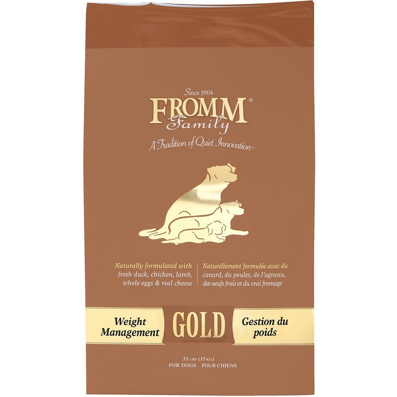 Fromm Gold Weight Management Dry Dog Food 33lbs