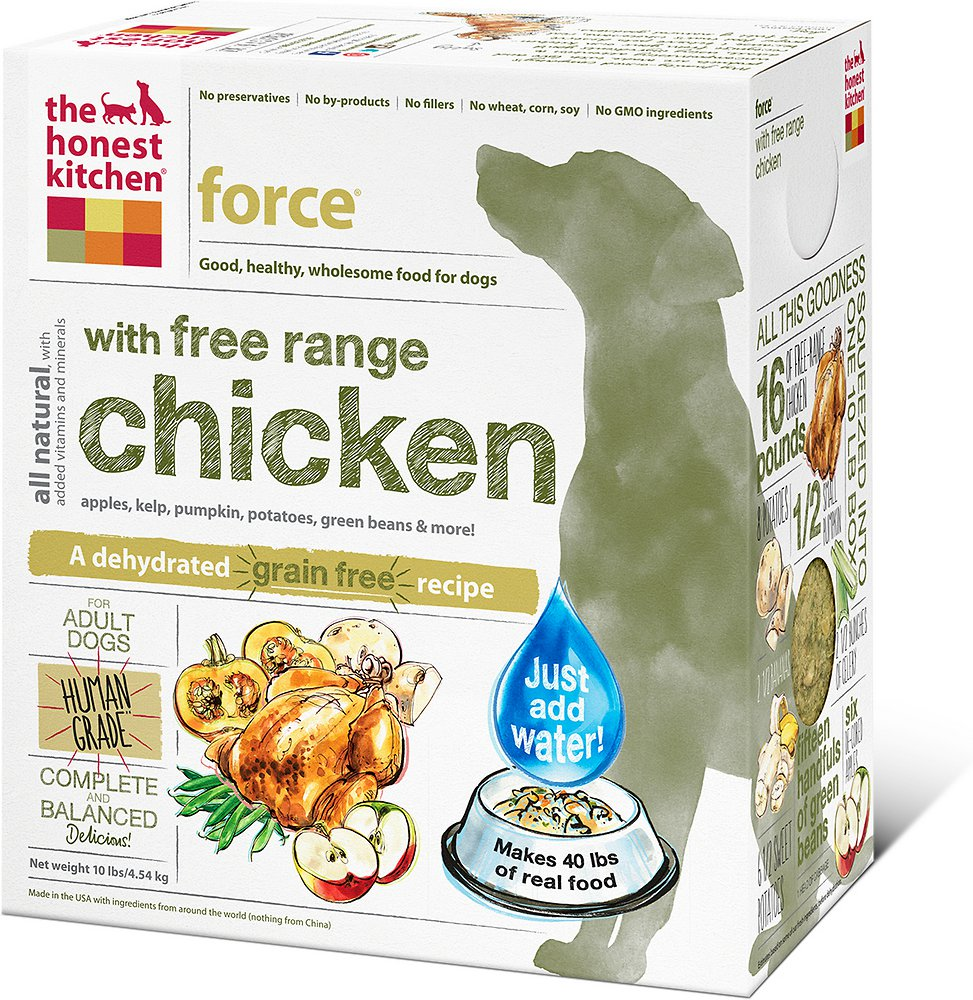 The Honest Kitchen Force Dehydrated Dog Food 10lbs