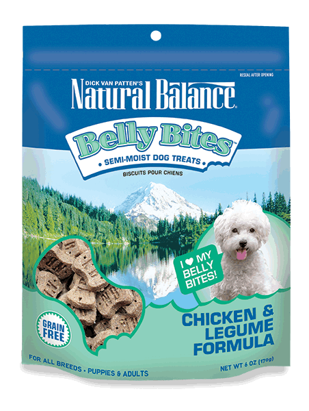 Natural Balance Belly Bites Chicken & Legume Treat 6z