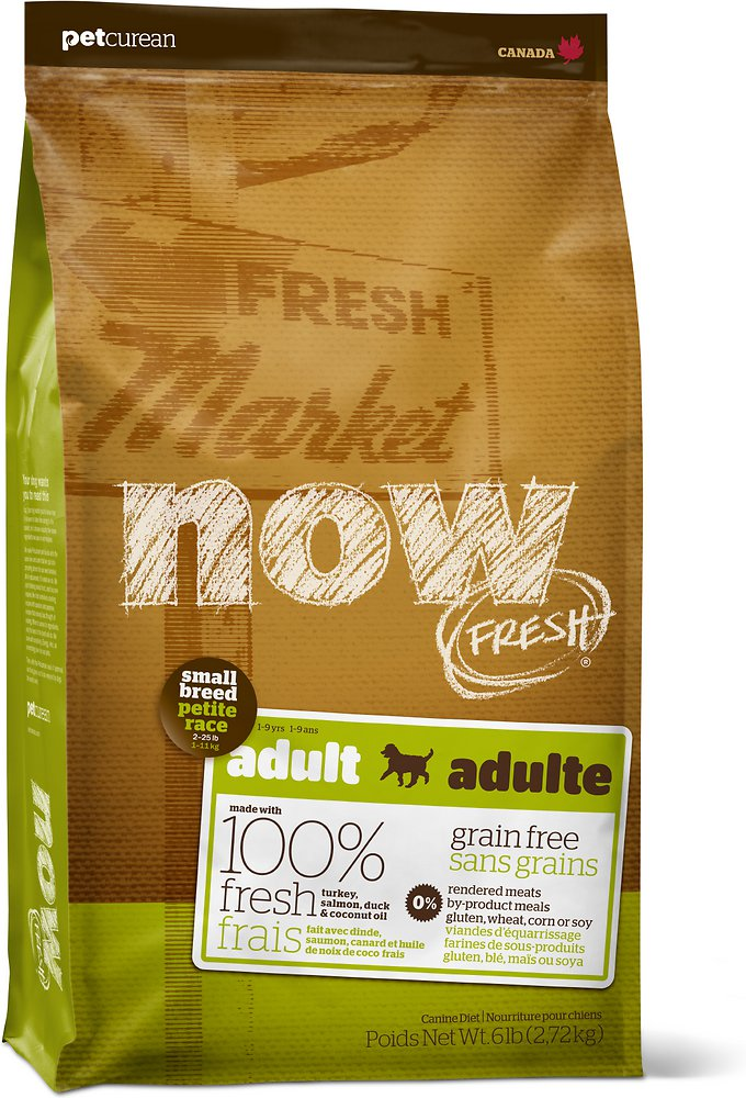 Petcurean Now Fresh Grain-Free Small Breed Adult Recipe Dry Dog Food 6lbs