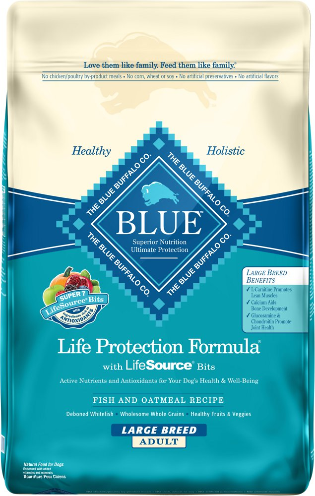 Blue Buffalo Life Protection Formula Large Breed Adult Fish & Oatmeal Recipe Dry Dog Food 30lbs