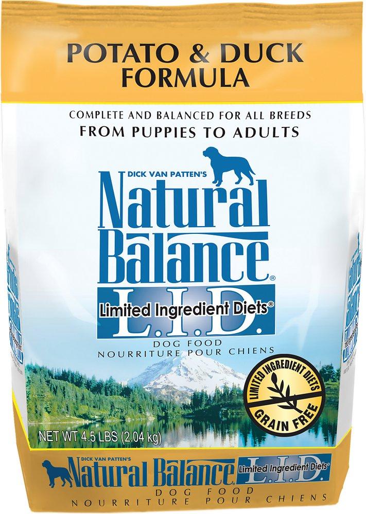 Natural Balance L.I.D. Limited Ingredient Diets Potato & Duck Formula Dry Dog Food 4.5lbs