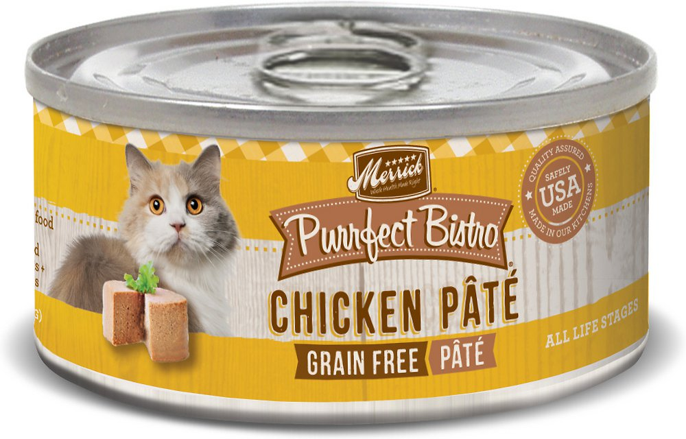 Merrick Purrfect Bistro Grain-Free Chicken Pate Canned Cat Food 3z, 24