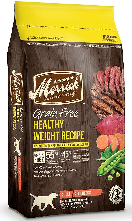 Merrick Grain-Free Healthy Weight Recipe Dry Dog Food 25lbs
