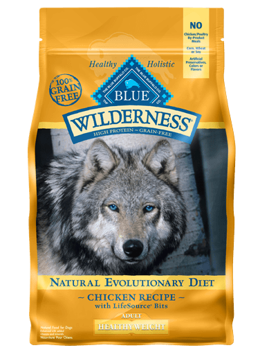 Blue Buffalo Wilderness Healthy Weight Chicken Recipe Grain-Free Dry Dog Food 24lbs