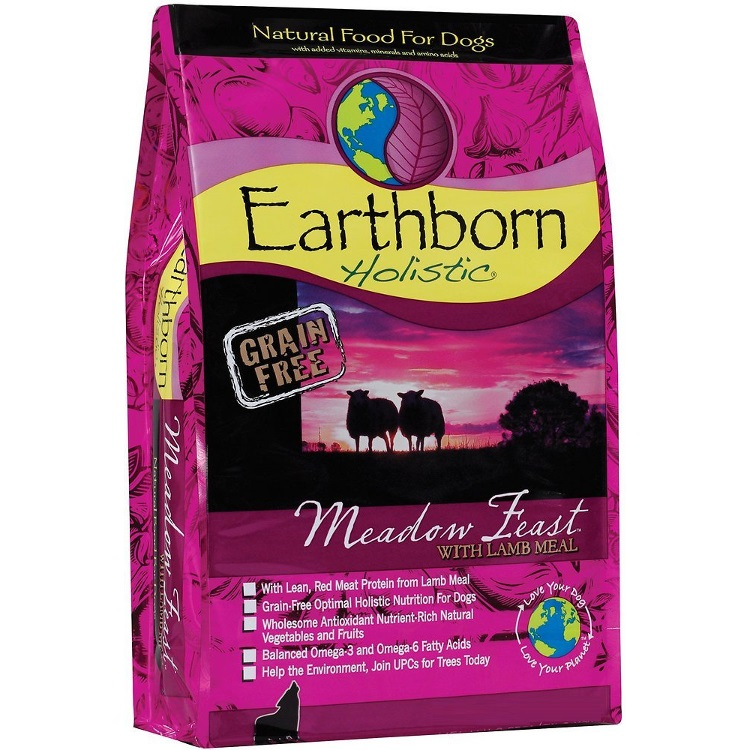 Earthborn Holistic Meadow Feast Grain-Free Natural Dry Dog Food 5lbs