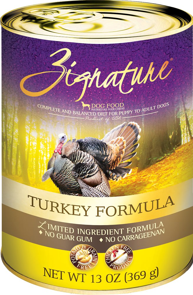 Zignature Grain-Free Turkey Limited Ingredient Formula Canned Dog Food 13z, 12