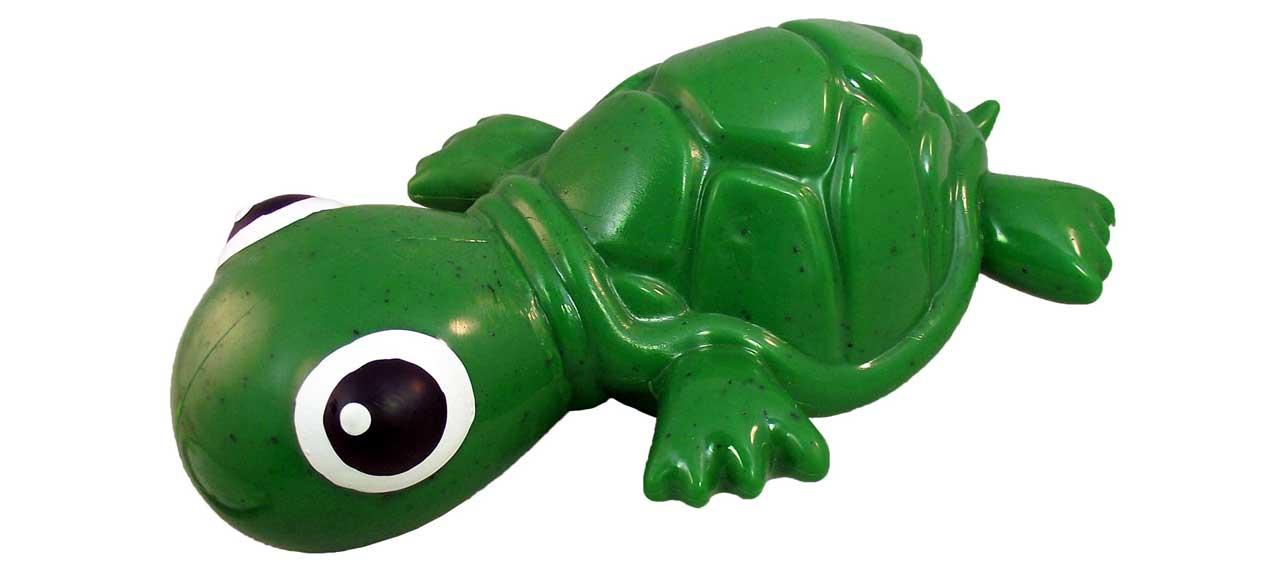 CycleDog Turtle Dog Toy - Green, Mini