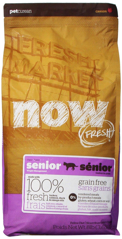 Petcurean Now Fresh Grain-Free Senior Weight Management Recipe Dry Cat Food 8lbs