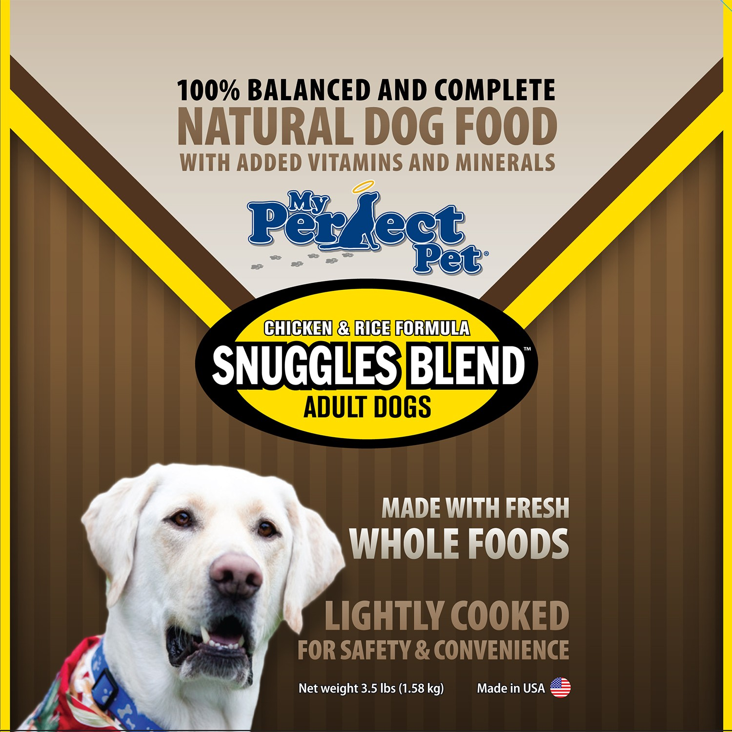 My Perfect Pet Snuggles Chicken & Rice Frozen Dog Food 3.5lbs