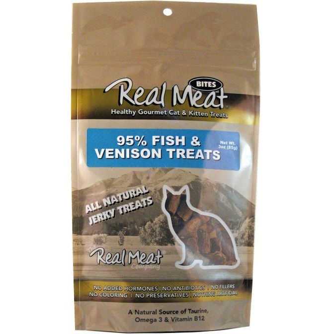 The Real Meat Fish & Venison Treat Cat 3z