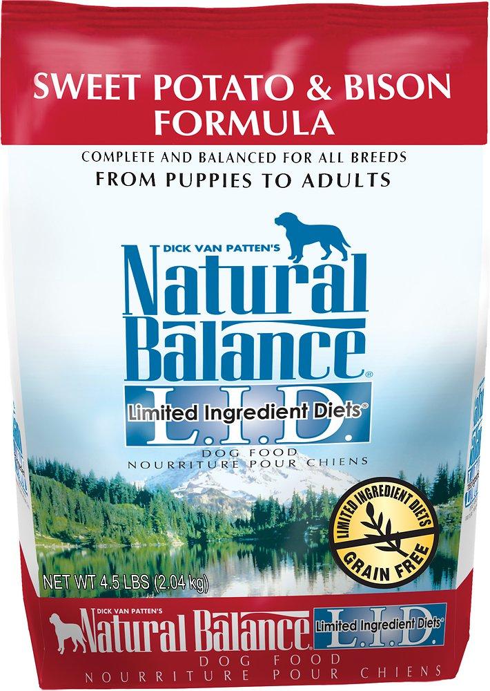 Natural Balance L.I.D. Limited Ingredient Diets Sweet Potato & Bison Formula Dry Dog Food 4.5lbs