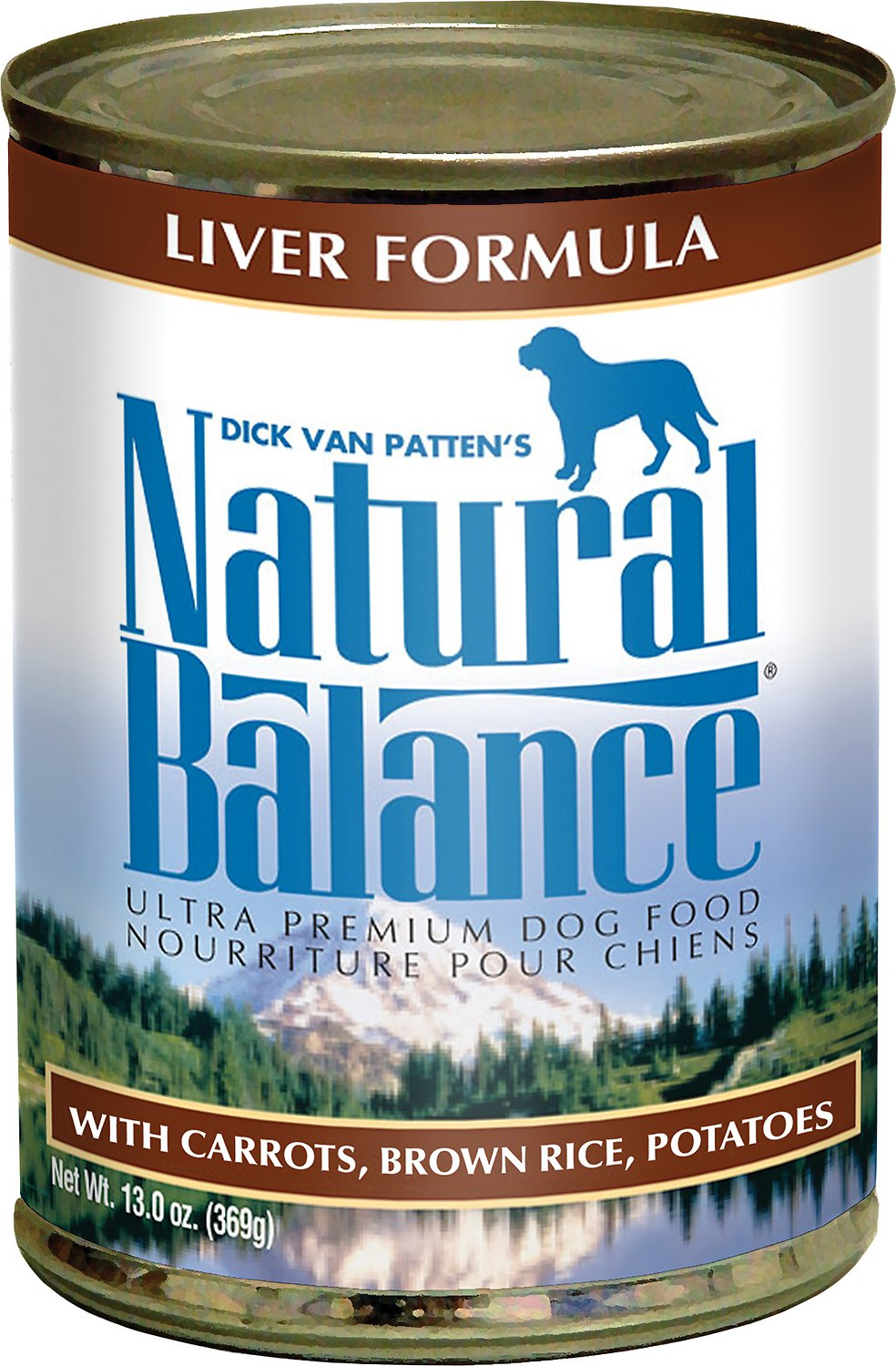 Natural Balance Ultra Premium Liver Formula Canned Dog Food 13z, 12