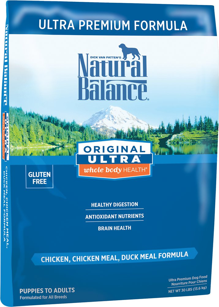 Natural Balance Original Ultra Whole Body Health Chicken, Chicken Meal & Duck Meal Formula Dry Dog Food 30lbs