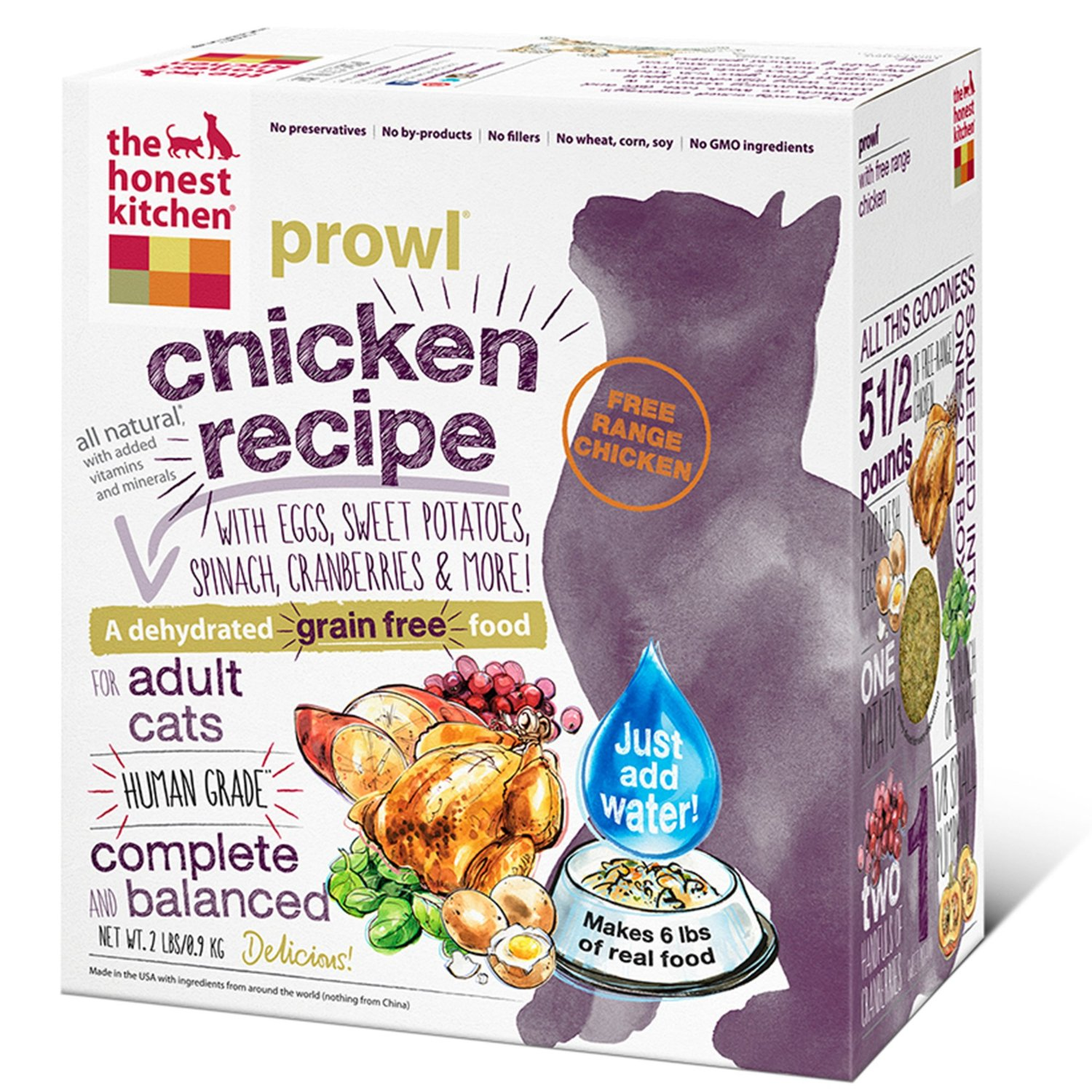 The Honest Kitchen Prowl Grain-Free Dehydrated Cat Food 2lbs