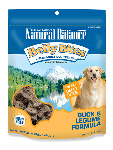 Natural Balance Belly Bites Duck & Legume Treat 6z