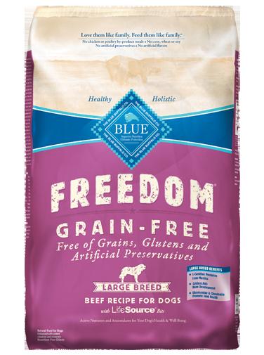 Blue Buffalo Freedom Large Breed Adult Beef Recipe Grain-Free Dry Dog Food 24lbs