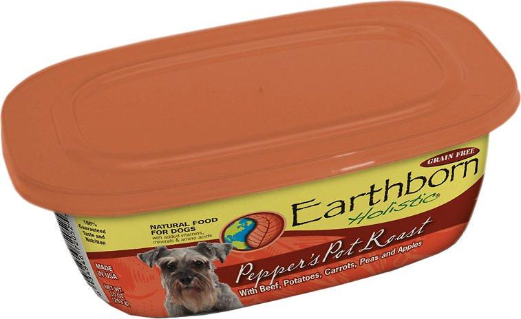 Earthborn Holistic Pepper's Pot Roast Grain-Free Natural Moist Dog Food 9z, 8