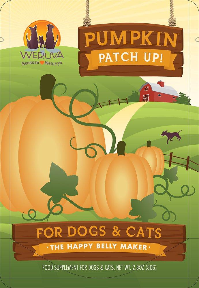 Weruva Pumpkin Patch Up! Dog & Cat Food Supplement Pouch 2.8z, 12