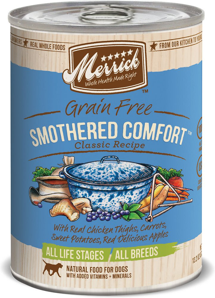 Merrick Classic Grain-Free Smothered Comfort Recipe Canned Dog Food 13.2z, 12