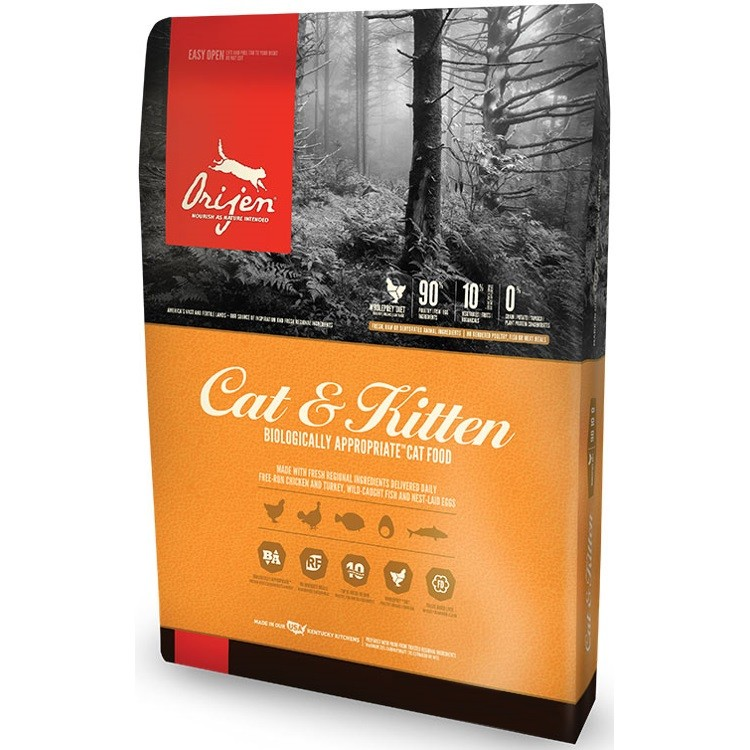 Orijen Cat & Kitten Grain-Free Dry Cat Food 4lbs