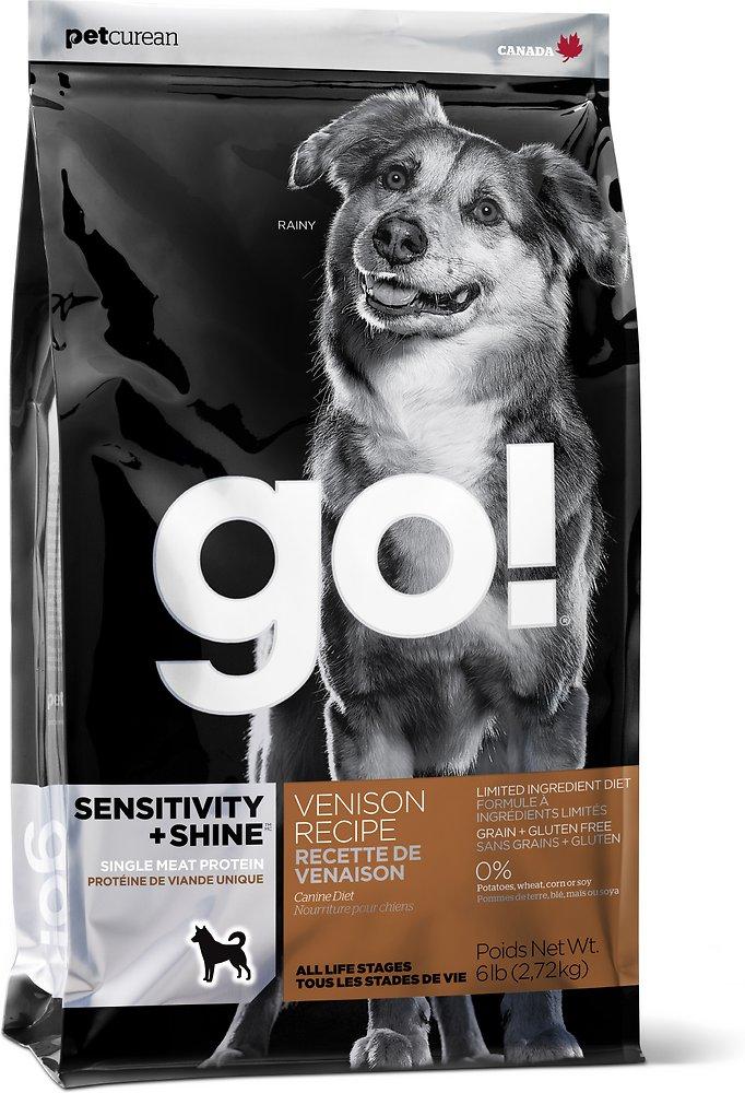 Petcurean Go! Sensitivity + Shine Limited Ingredient Venison Recipe Dry Dog Food 25lbs