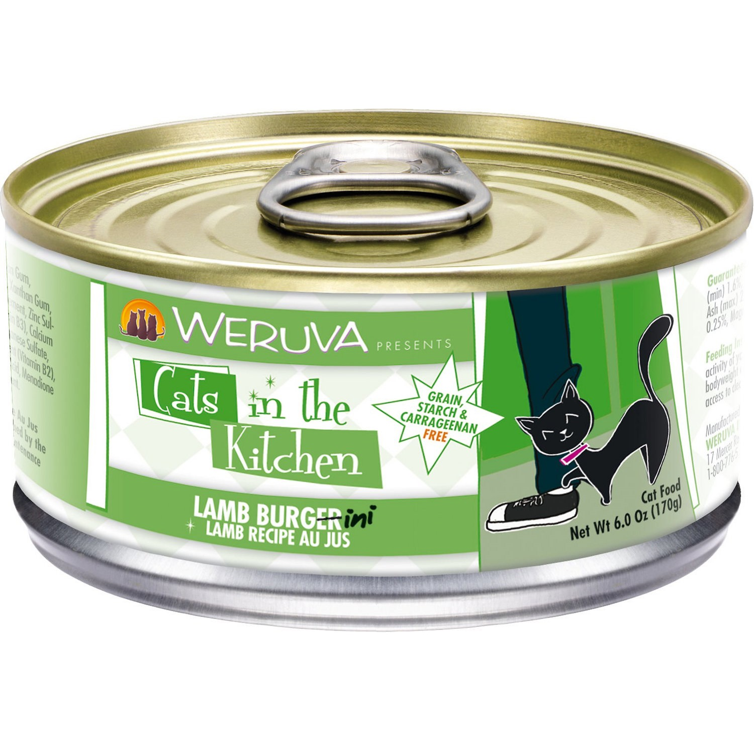 Weruva Cats in the Kitchen 'Lamb Burgini' Lamb Au Jus Grain-Free Canned Cat Food 6z, 24