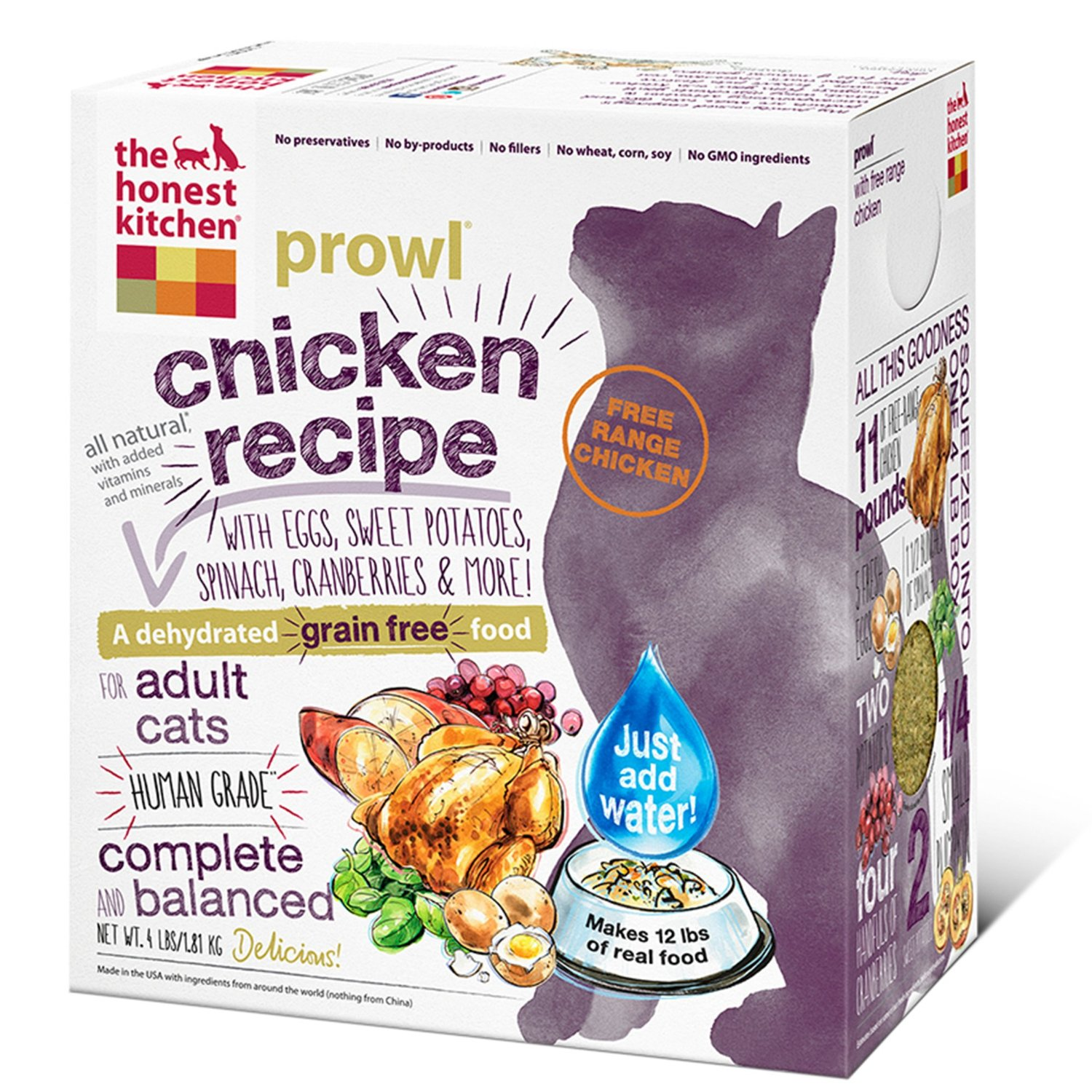 The Honest Kitchen Prowl Grain-Free Dehydrated Cat Food 4lbs