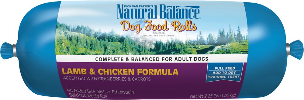 Natural Balance Lamb & Chicken Formula Dog Food Roll 2.25lbs
