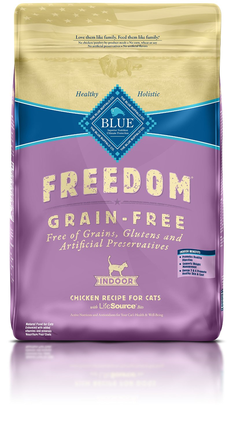 Blue Buffalo Freedom Indoor Adult Chicken Recipe Grain-Free Dry Cat Food 11lbs