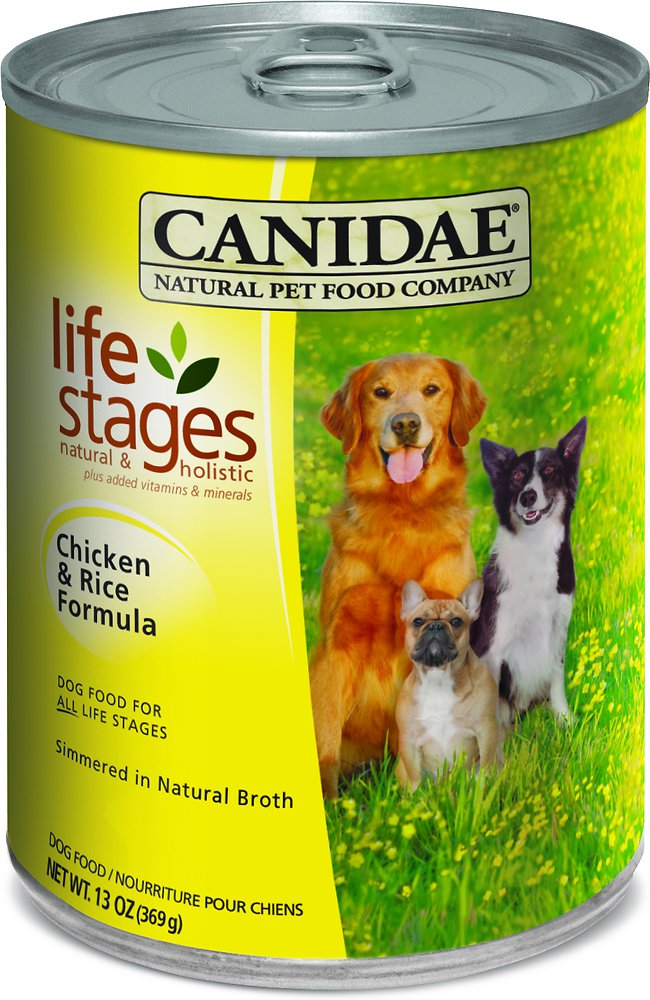 Canidae Life Stages Chicken & Rice Formula Canned Dog Food 13z, 12