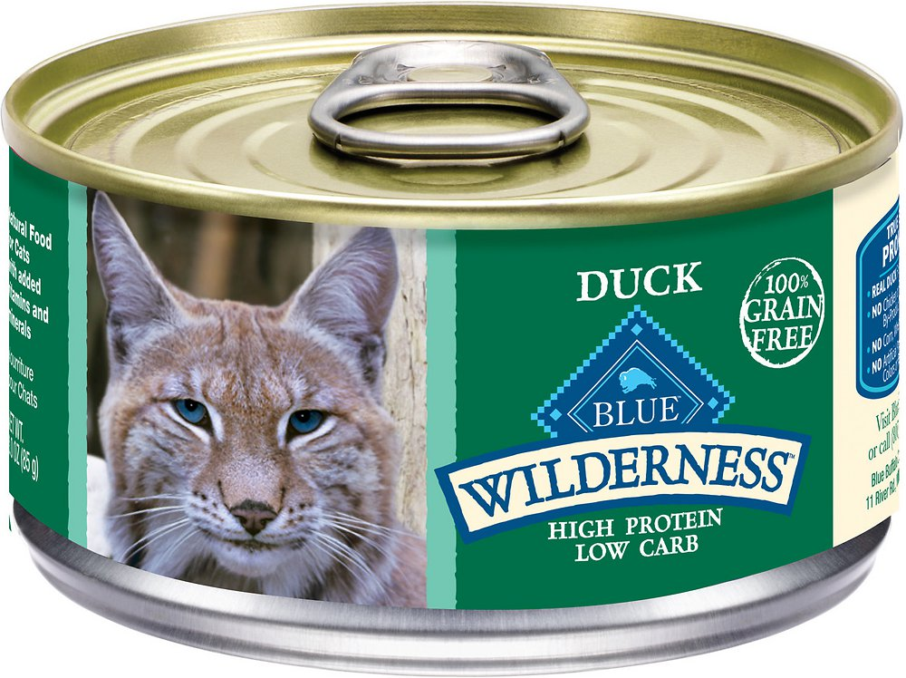 Blue Buffalo Wilderness Duck Grain-Free Canned Cat Food 3z, 24