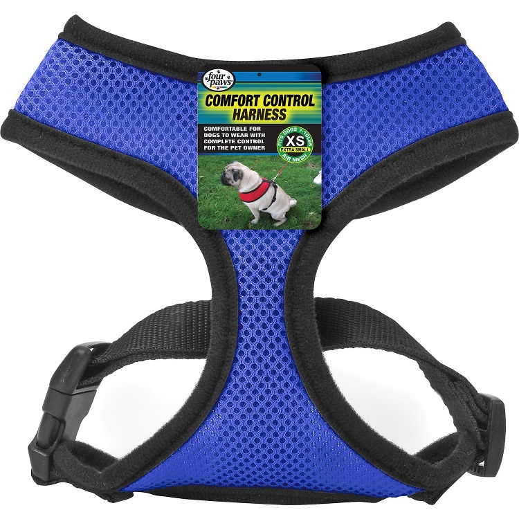 Four Paws Comfort Control Harness for Dogs - Blue - X-Small