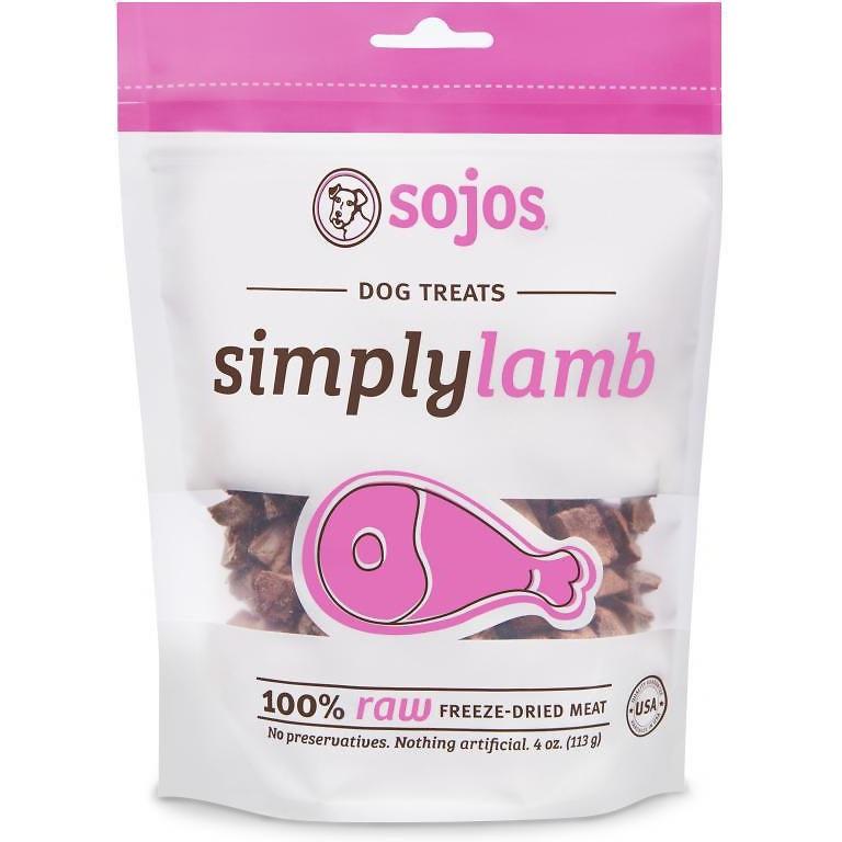 Sojos Simply Lamb Freeze Dried Dog Treats 4z