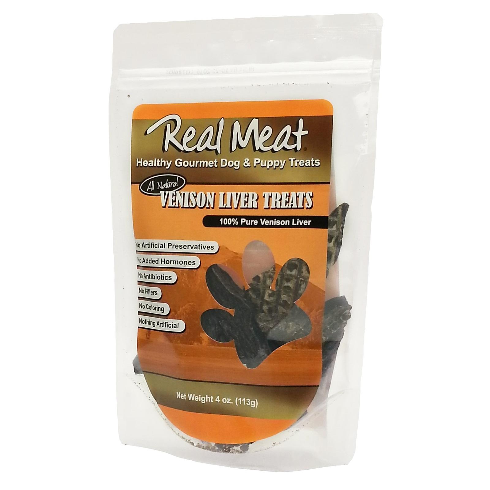 The Real Meat Company Venison Liver Dog Treats 4z d*