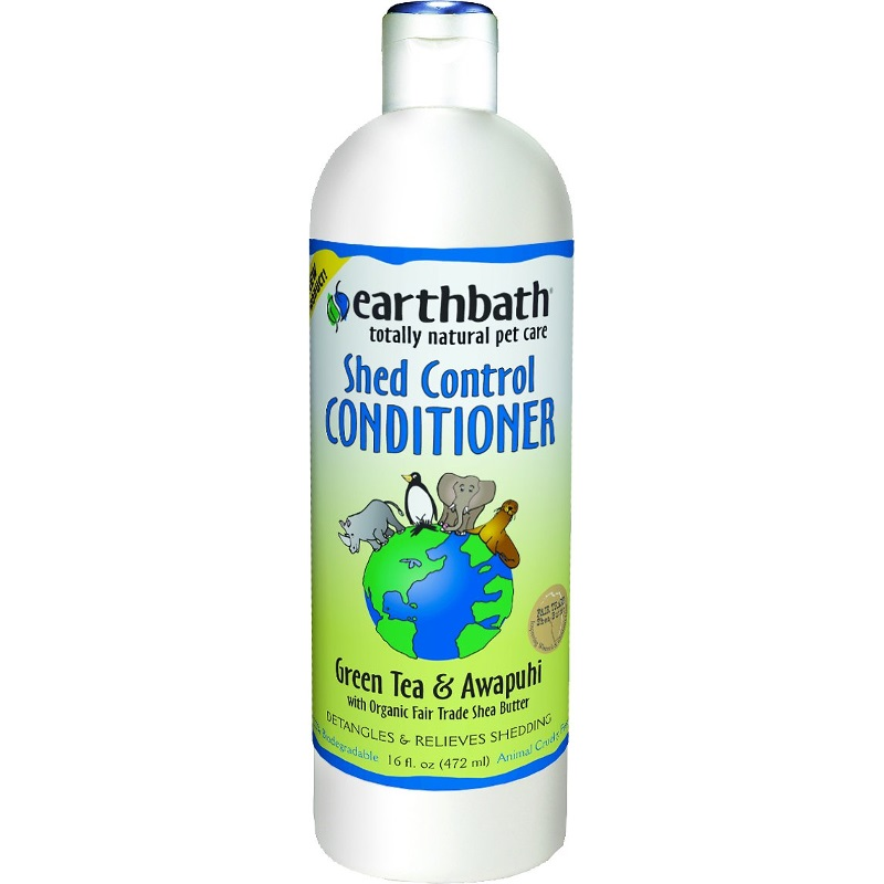 Earthbath Shed Control with Green Tea & Awapuhi Conditioner for Dogs & Cats 16z