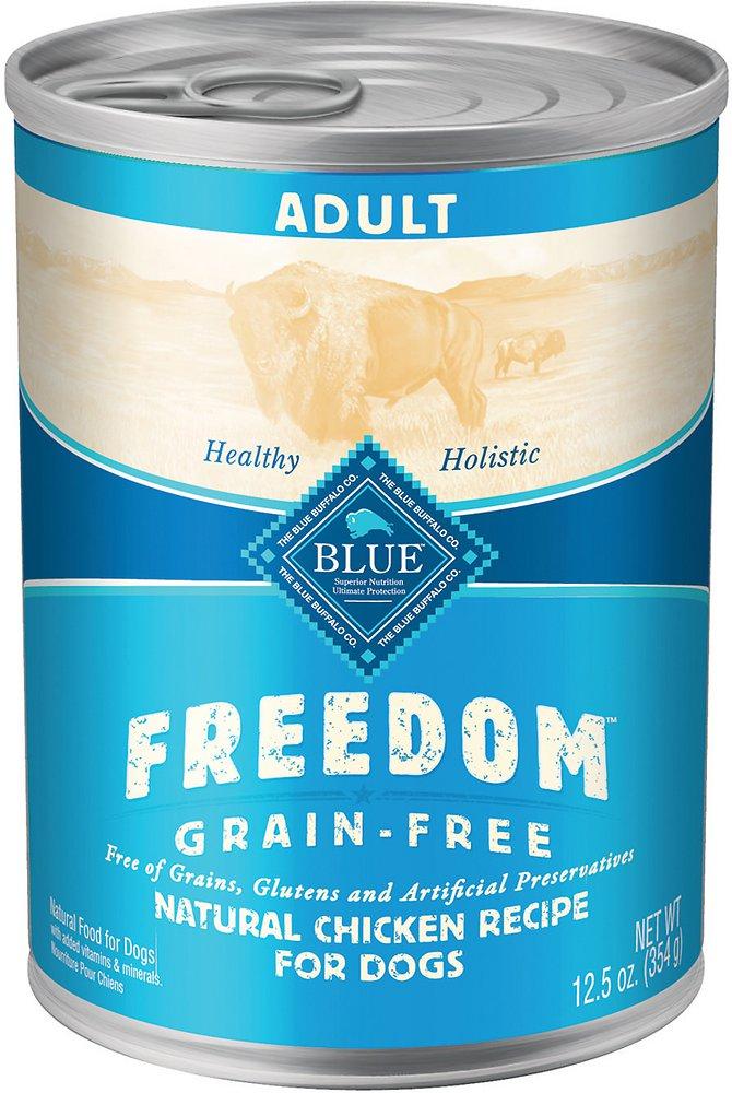 Blue Buffalo Freedom Adult Chicken Recipe Grain-Free Canned Dog Food 12.5z, 12