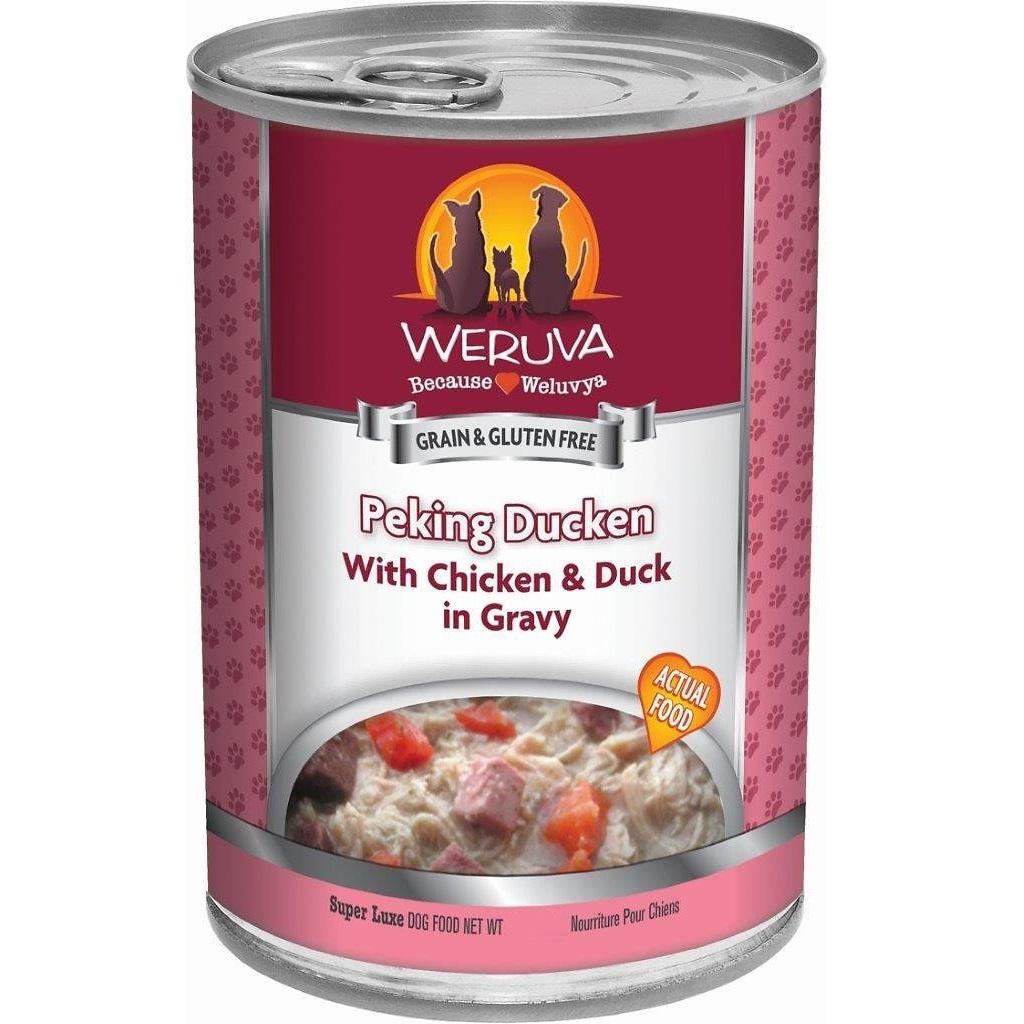 Weruva Peking Ducken with Chicken & Duck in Gravy Canned Dog Food 5.5z, 24