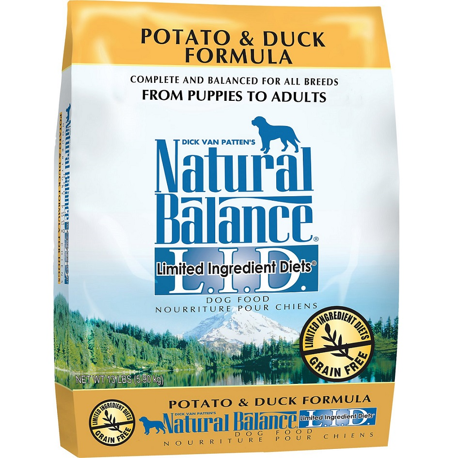 Natural Balance L.I.D. Limited Ingredient Diets Potato & Duck Formula Dry Dog Food 13lbs
