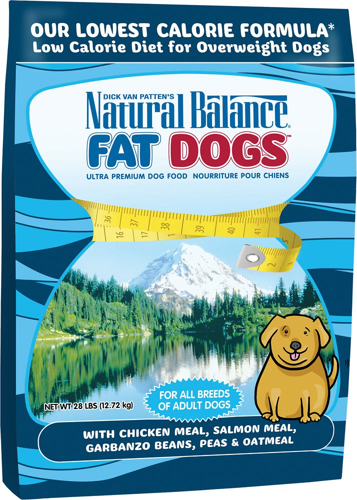 Natural Balance Fat Dogs Chicken & Salmon Formula Low Calorie Dry Dog Food 28lbs