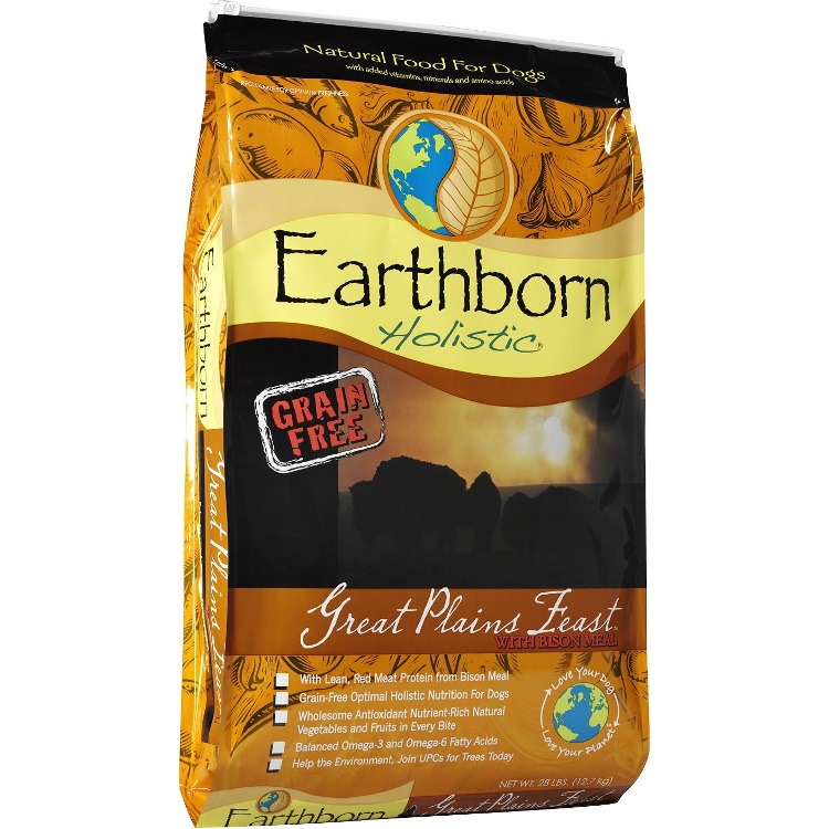 Earthborn Holistic Great Plains Feast Grain-Free Natural Dry Dog Food 28lbs